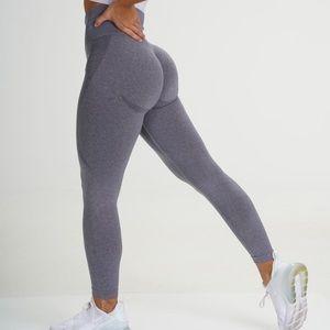 NVGTN grey seamless contour leggings NWT